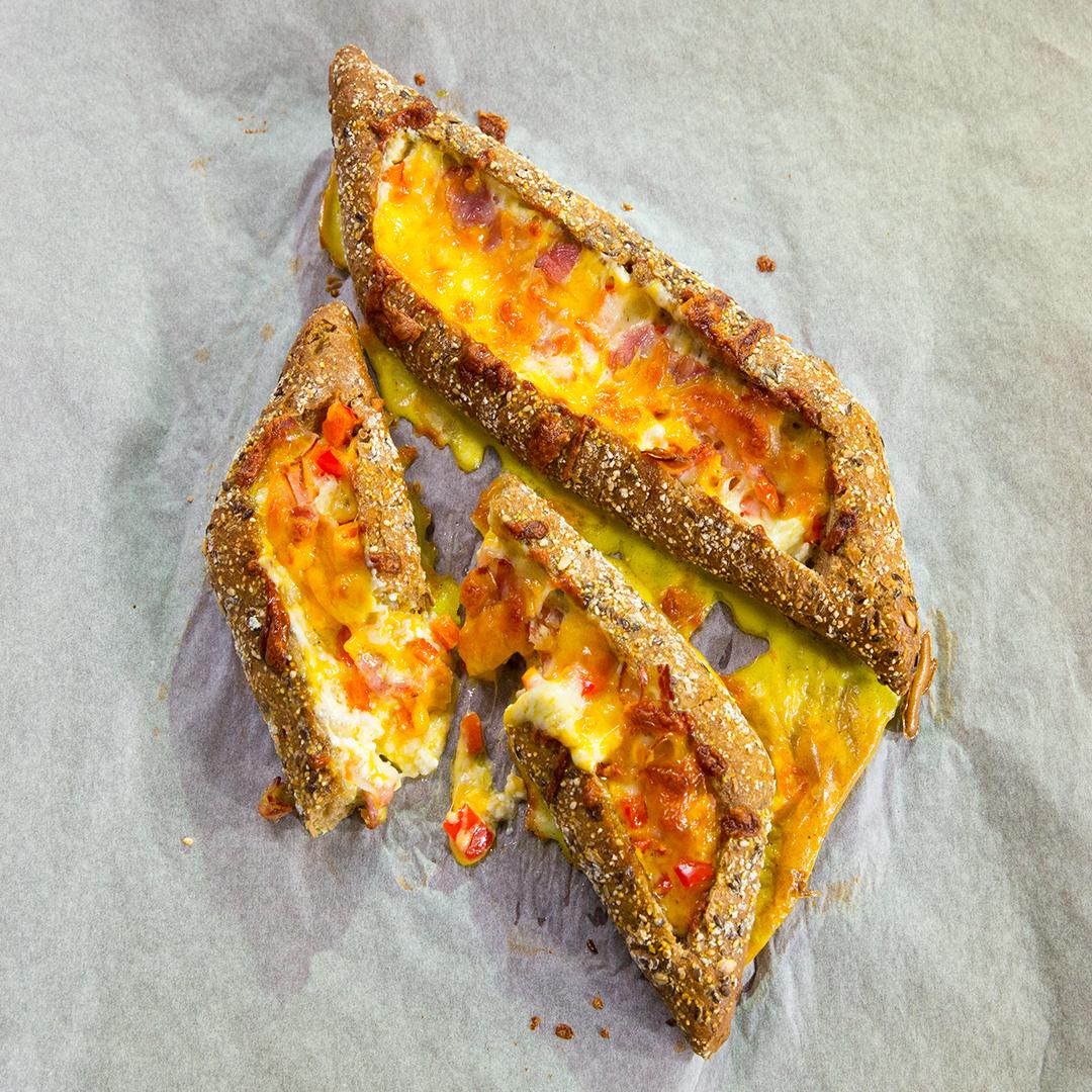 Baked Cheese Omelet Baguette