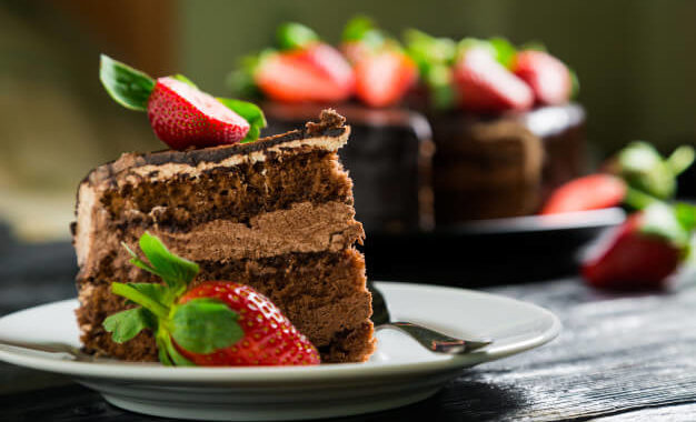Chocolate cake for breaksfast