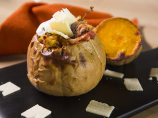 Potato-Stuffed Squash with Prosciutto Crudo