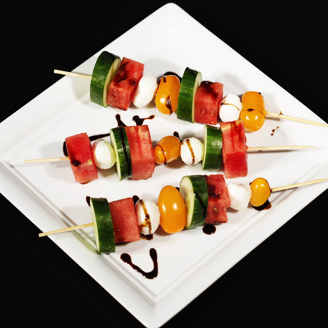 watermelon-veggies-and-mozzarella-skewers