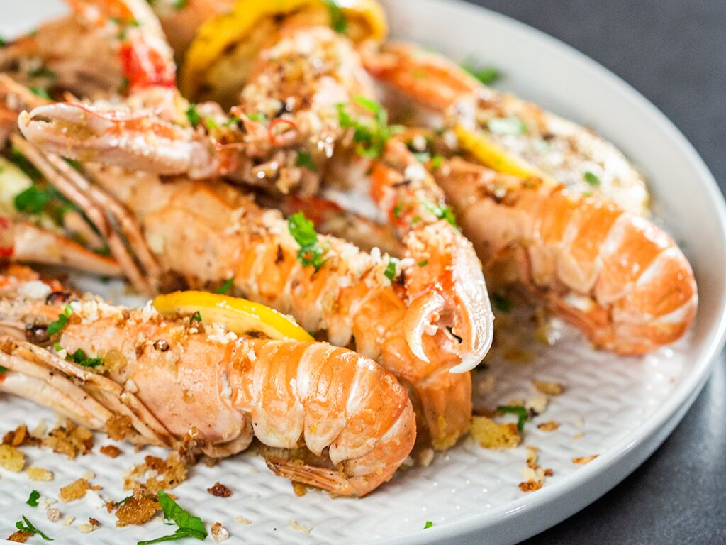 Langoustines in White Wine