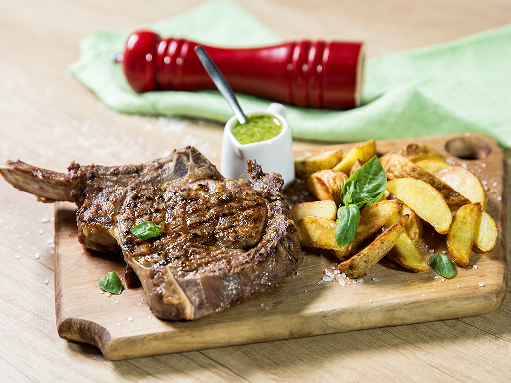 Ribeye Steak with Pesto Sauce