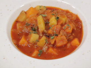 Sweet and White Potato Stew